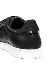 Pierced punk retro leather trainers