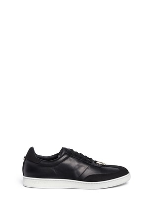 Main View - Click To Enlarge - Neil Barrett - Pierced punk retro leather trainers