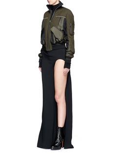 Haider AckermannCutout leg cady crepe maxi skirt