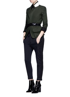 Haider Ackermann 'Duplessis' grosgrain trim French terry jogging pants