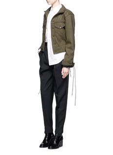 Haider AckermannLace-up sleeve wool melton jacket