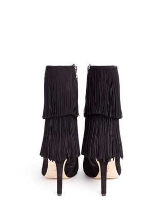Back View - Click To Enlarge - Sam Edelman - 'Belinda' fringe suede boots