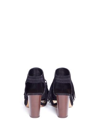 Back View - Click To Enlarge - Sam Edelman - 'Elaine' fringe suede peep toe sandals