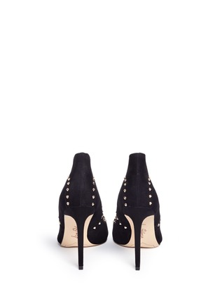 Back View - Click To Enlarge - Sam Edelman - 'Hayden' geometric patchwork stud suede pumps
