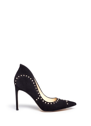 Main View - Click To Enlarge - Sam Edelman - 'Hayden' geometric patchwork stud suede pumps