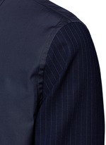 Layered pinstripe sleeve cotton shirt