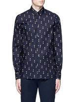 Dot print cotton shirt