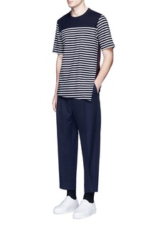 MarniStripe front overlay wool T-shirt