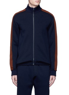 MarniContrast sleeve track jacket