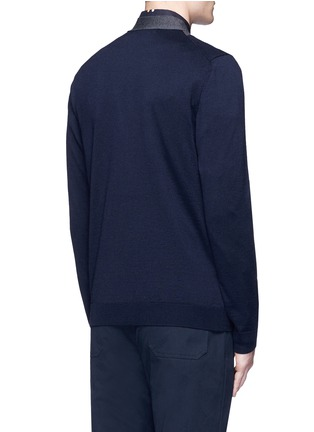 Back View - Click To Enlarge - Marni - Contrast collar virgin wool cardigan