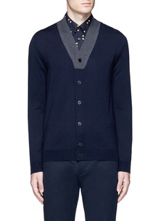 Marni Contrast collar virgin wool cardigan