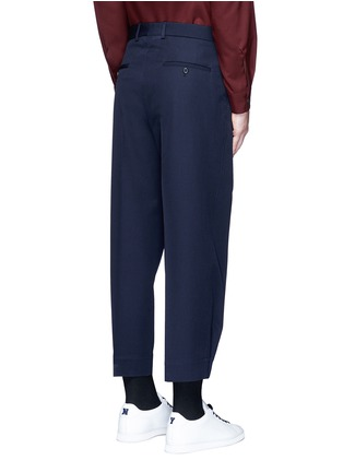 Back View - Click To Enlarge - Marni - Pleated wool gabardine pants