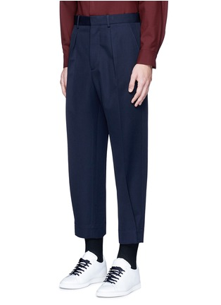 Front View - Click To Enlarge - Marni - Pleated wool gabardine pants