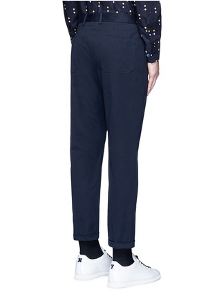 Back View - Click To Enlarge - Marni - Slim fit rolled cuff cotton pants