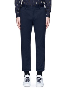 Marni Slim fit rolled cuff cotton pants