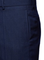 Wide leg rolled cuff wool pants