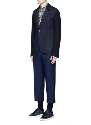 Figure View - Click To Enlarge - Marni - Wide leg rolled cuff wool pants