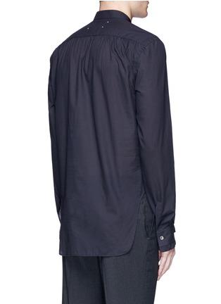 Back View - Click To Enlarge - Maison Margiela - Zip front cotton poplin shirt