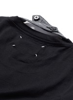 Neck strap cotton T-shirt