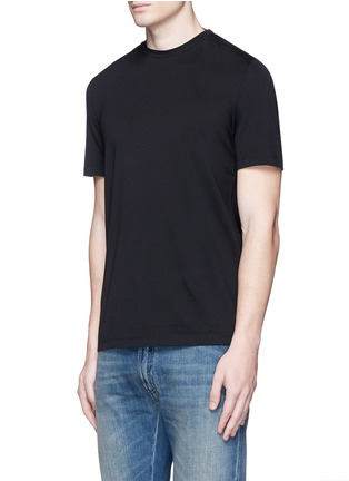 Front View - Click To Enlarge - Maison Margiela - Neck strap cotton T-shirt