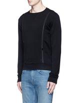 Double zip sweatshirt