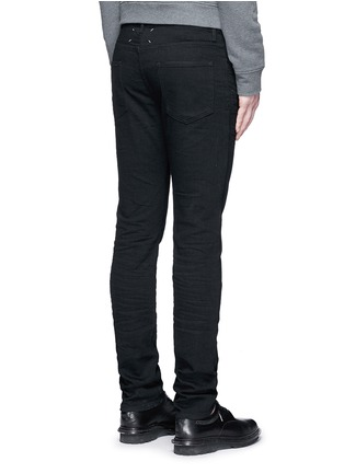 Back View - Click To Enlarge - Maison Margiela - Raw denim slim fit jeans