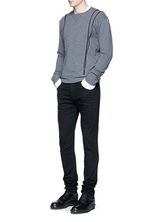 Maison MargielaRaw denim slim fit jeans