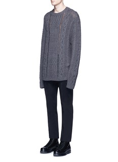 Maison Margiela Mix cable knit sweater
