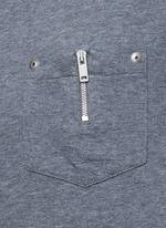 Zip chest pocket T-shirt