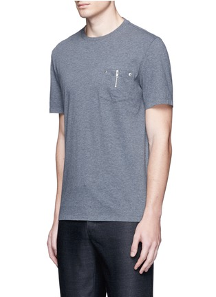 Front View - Click To Enlarge - Maison Margiela - Zip chest pocket T-shirt