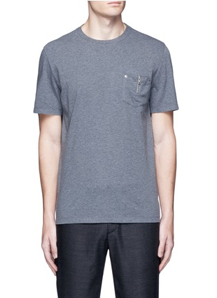 Main View - Click To Enlarge - Maison Margiela - Zip chest pocket T-shirt