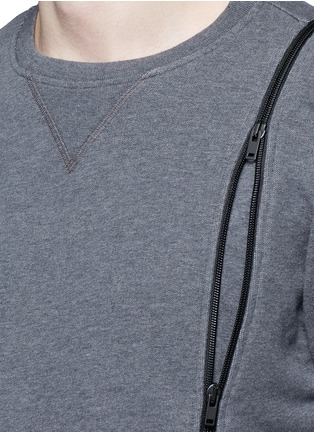 Detail View - Click To Enlarge - Maison Margiela - Double zip sweatshirt
