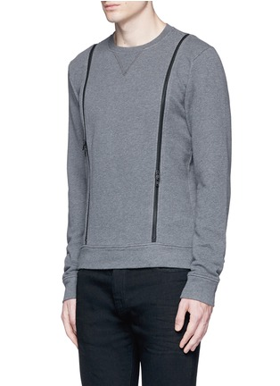 Front View - Click To Enlarge - Maison Margiela - Double zip sweatshirt
