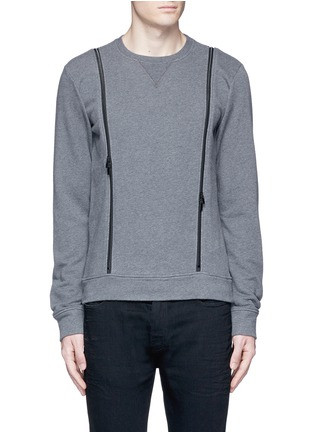 Main View - Click To Enlarge - Maison Margiela - Double zip sweatshirt