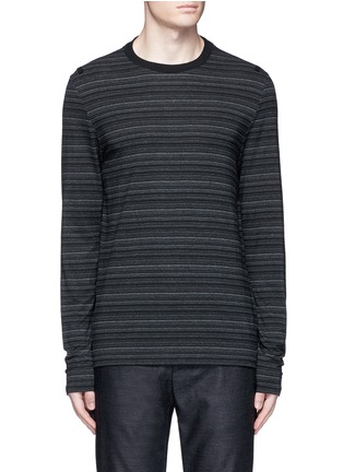 Main View - Click To Enlarge - Maison Margiela - Stripe ribbon trim T-shirt