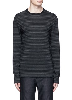 Maison Margiela Stripe ribbon trim T-shirt