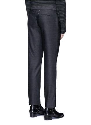Back View - Click To Enlarge - Maison Margiela - Drawstring wool pants