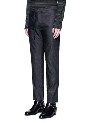 Front View - Click To Enlarge - Maison Margiela - Drawstring wool pants