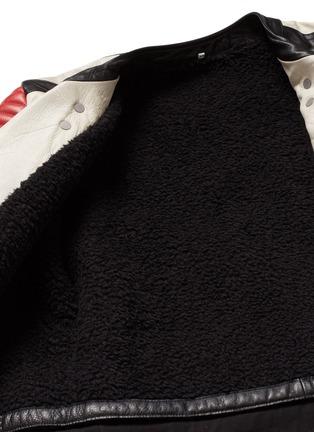 - Maison Margiela - Deconstructed leather biker coat