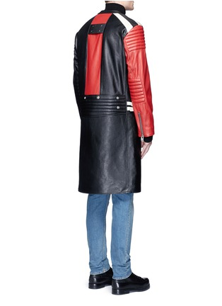Back View - Click To Enlarge - Maison Margiela - Deconstructed leather biker coat