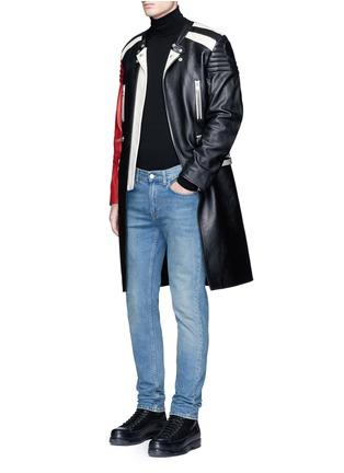 Figure View - Click To Enlarge - Maison Margiela - Deconstructed leather biker coat