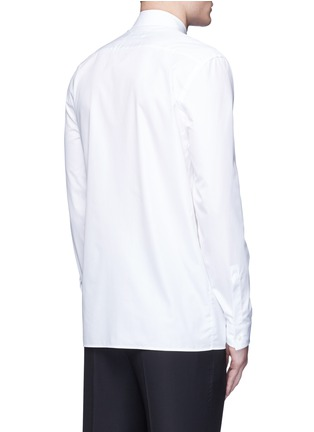 Back View - Click To Enlarge - Maison Margiela - Oversize bib cotton poplin shirt