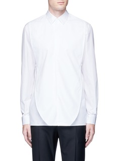 Maison MargielaOversize bib cotton poplin shirt