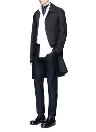 Figure View - Click To Enlarge - Maison Margiela - Oversize bib cotton poplin shirt