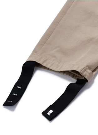 Detail View - Click To Enlarge - Maison Margiela - Belted stirrup twill cargo pants