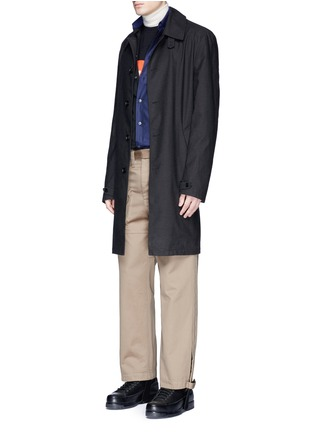 Figure View - Click To Enlarge - Maison Margiela - Belted stirrup twill cargo pants