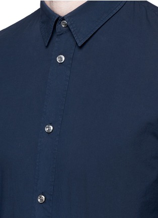 Detail View - Click To Enlarge - Maison Margiela - Garment dyed cotton shirt