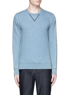 Maison Margiela Calfskin leather elbow patch sweatshirt
