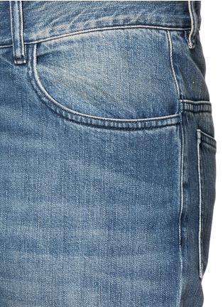 Detail View - Click To Enlarge - Maison Margiela - Slim fit vintage wash panelled jeans
