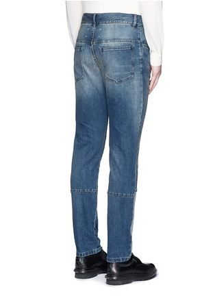 Back View - Click To Enlarge - Maison Margiela - Slim fit vintage wash panelled jeans
